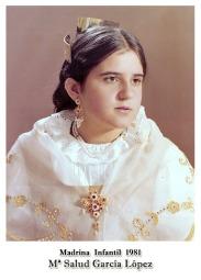 1981 Infantil M.ª Salud Garcia Lopez