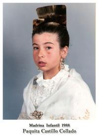 1988 Infantil Paquita Castillo Collado