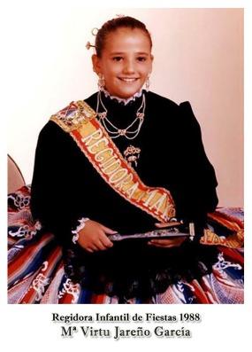 1988 Regidora Infantil Mª Virtu Jareño García