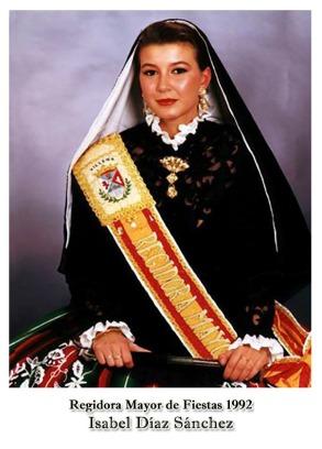 1992 Regidora Isabel Díaz Sánchez