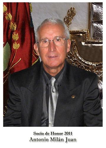 2011 Antonio milán Juan - Socio de Honor